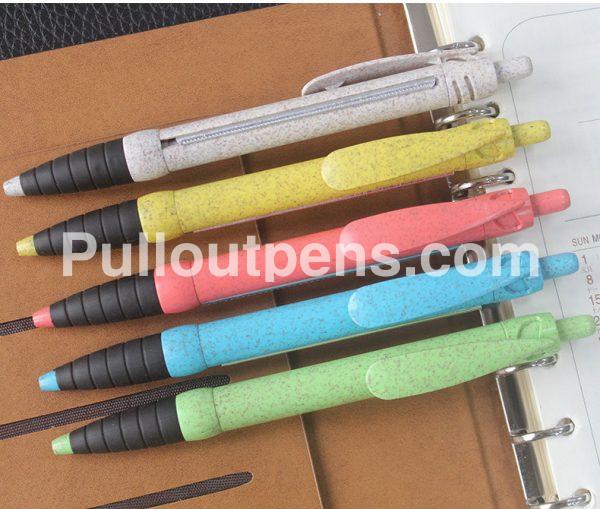 custom trade show scroll pens solid glitter color