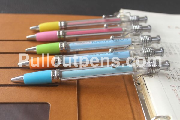 personalized zigzag pull out pens