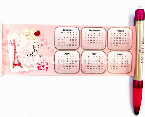 pull out calender pens stylus