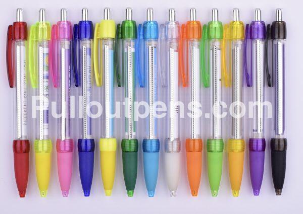 pull out pens transparent barrel pop 1